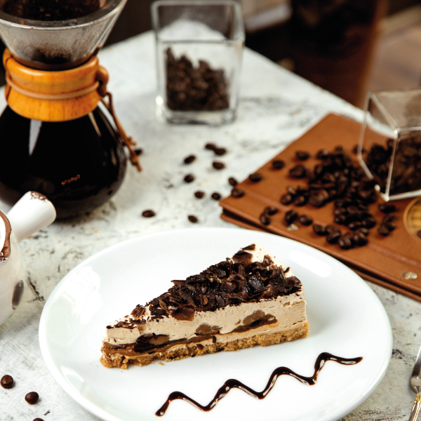 TORTA AL CAFFÈ E PANNA SENZA COTTURA: delicata, morbida e gustosissima.